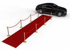 Red Carpet limousine Stock Image
