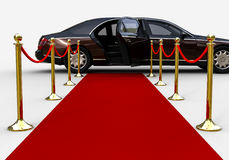Red Carpet limousine royalty free illustration