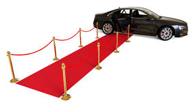 Red Carpet limousine Stock Images
