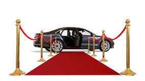 Red Carpet limousine Royalty Free Stock Photography