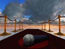 Red Carpet and Microphone Stock Images