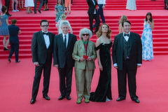 The red carpet of the MIFF 38 - opening of the Festival. Royalty Free Stock Photo