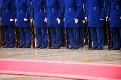 Red carpet military ceremony Royalty Free Stock Photos