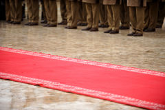 Red carpet military ceremony Stock Photography