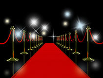 Red carpet at night. Stock Image