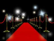 Red carpet at night. Stock Image