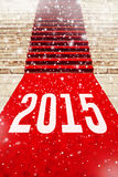 Red Carpet with number 2015 Royalty Free Stock Photography