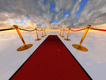 Red carpet in open-space Stock Image