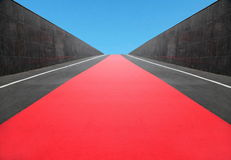 Red carpet path Royalty Free Stock Photos
