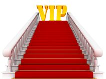 Red carpet path on a white ladder for VIP Royalty Free Stock Image