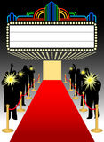 Red Carpet Premier Marquee/eps stock image