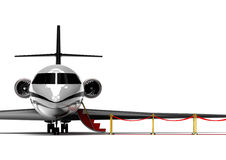 Red carpet Private jet Royalty Free Stock Photo