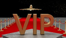 Red carpet Private jet with a Luxury vip royalty free stock photography