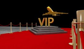 Red carpet Private jet with a Luxury vip stock images