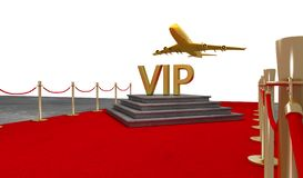Red carpet Private jet with a Luxury vip royalty free stock photos