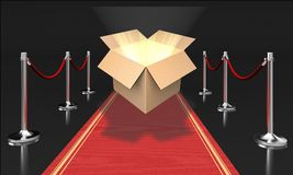 Red carpet. Fashion movie carpet red first class film industry vector illustration