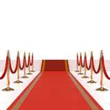 Red carpet with red ropes Royalty Free Stock Photos