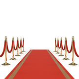 Red carpet with red ropes Royalty Free Stock Images