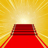 Red carpet. The road to success stock illustration