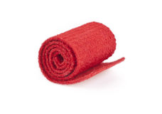 Red carpet roll on the white background Stock Photo