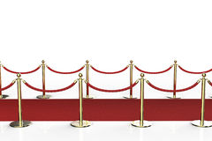 Red carpet with rope barrier Royalty Free Stock Images