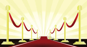 Red carpet. With rope vector Royalty Free Stock Image