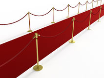 Red carpet from the side Royalty Free Stock Photo