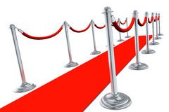 Red Carpet Side View Royalty Free Stock Photos
