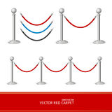 Red Carpet Silver Barrier Constructor. Vector Stock Photography