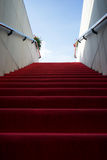 Red carpet sky Stock Images