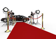Red Carpet Spot Light Stock Image