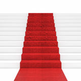 Red carpet stair Stock Photography