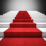 Red carpet stair Royalty Free Stock Photography