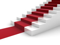 Red carpet staircase vector illustration