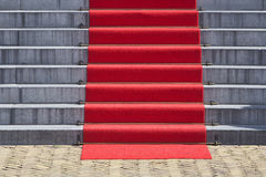 Red carpet staircase Royalty Free Stock Photography