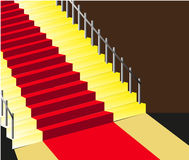 Red carpet staircase background Royalty Free Stock Photo