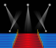 Red carpet staircase background Royalty Free Stock Photography