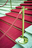 Red carpet. At a staircase - nice background stock photos