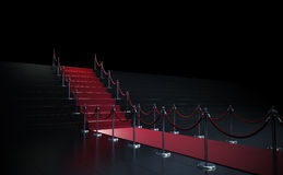 Red carpet and stairs Stock Images