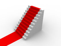 Red carpet stairs Royalty Free Stock Photos