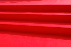Red carpet stairs Stock Image