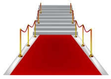 Red carpet with stairs stock photo