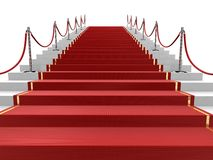Red carpet on stairs Stock Photography