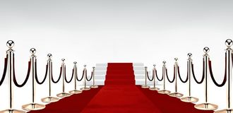 Red carpet with stairs at the end Stock Photo