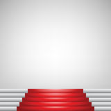 Red carpet and stairs Royalty Free Stock Image