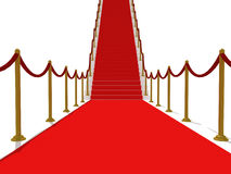 Red Carpet Stairs - Stairway to fame Stock Image