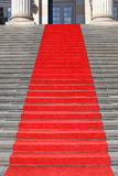 Red carpet stairs, success Stock Photography