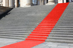 Red carpet stairs, success Stock Images