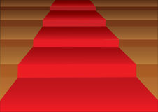 Red Carpet Stairsteps Vector Illustration Stock Photos