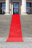 Red carpet stairway Stock Photo